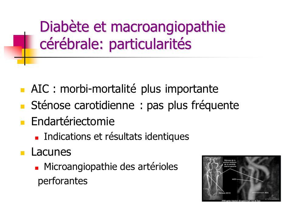 Diabète et macroangiopathie cérébrale: particularités