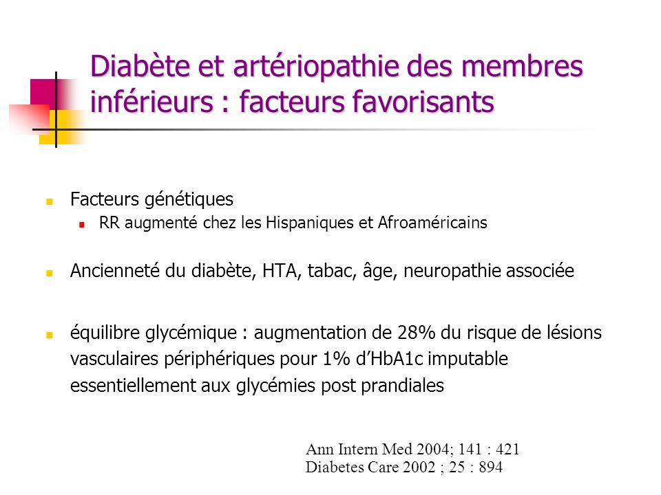 Diabète et artériopathie des membres inférieurs : facteurs favorisants
