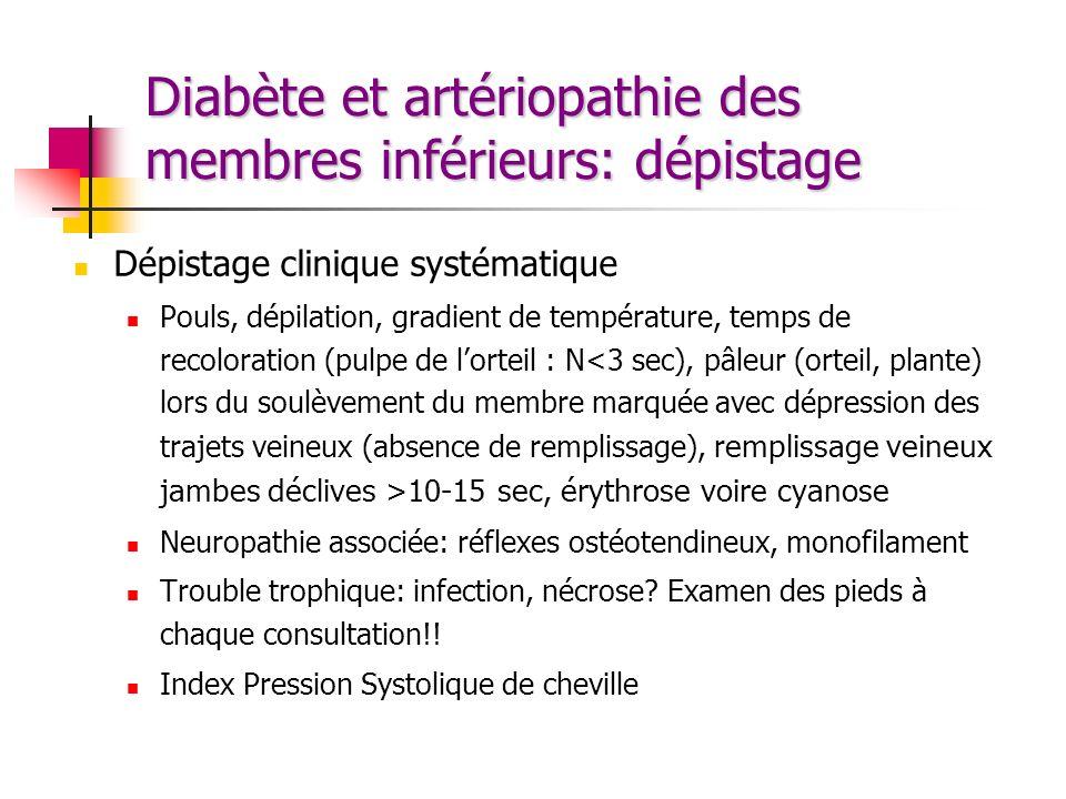 Diabète et artériopathie des membres inférieurs: dépistage