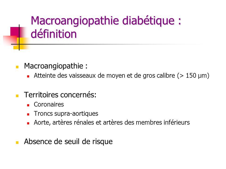 Macroangiopathie diabétique : définition