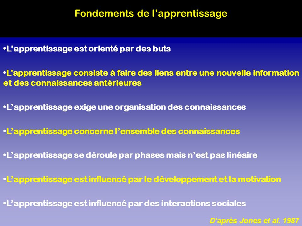 Fondements de l'apprentissage