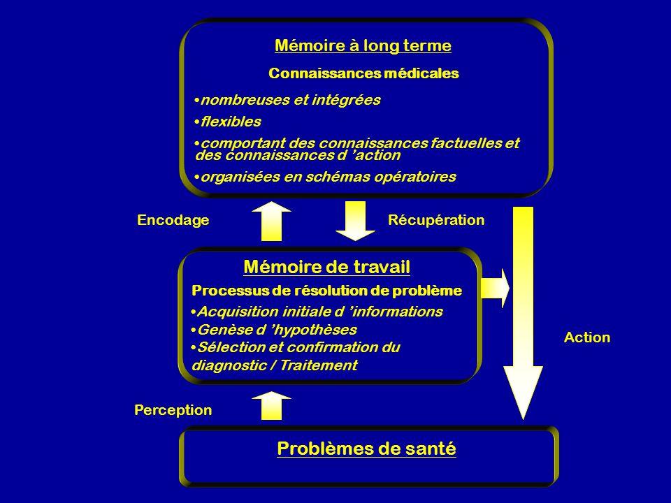 Mémoire de travail Problèmes de santé Mémoire à long terme