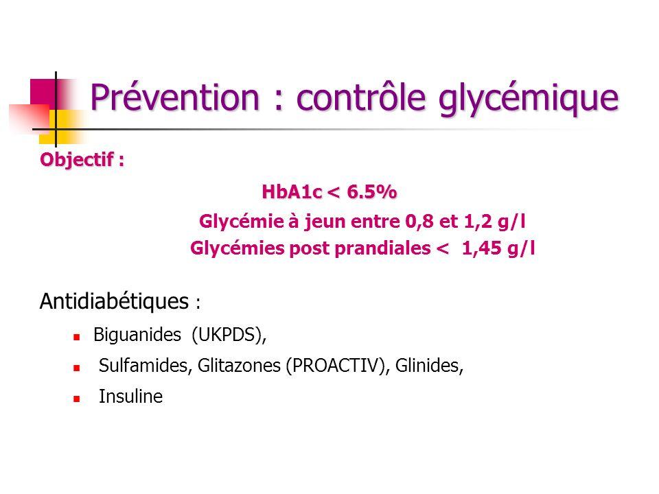 Prévention : contrôle glycémique
