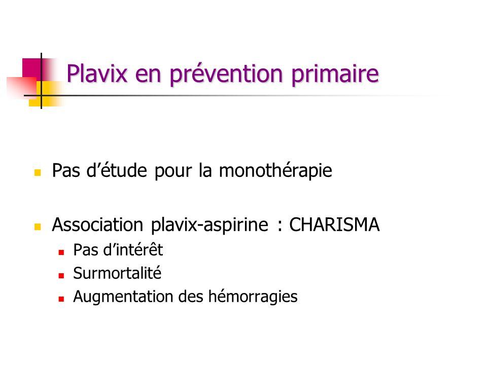 Plavix en prévention primaire