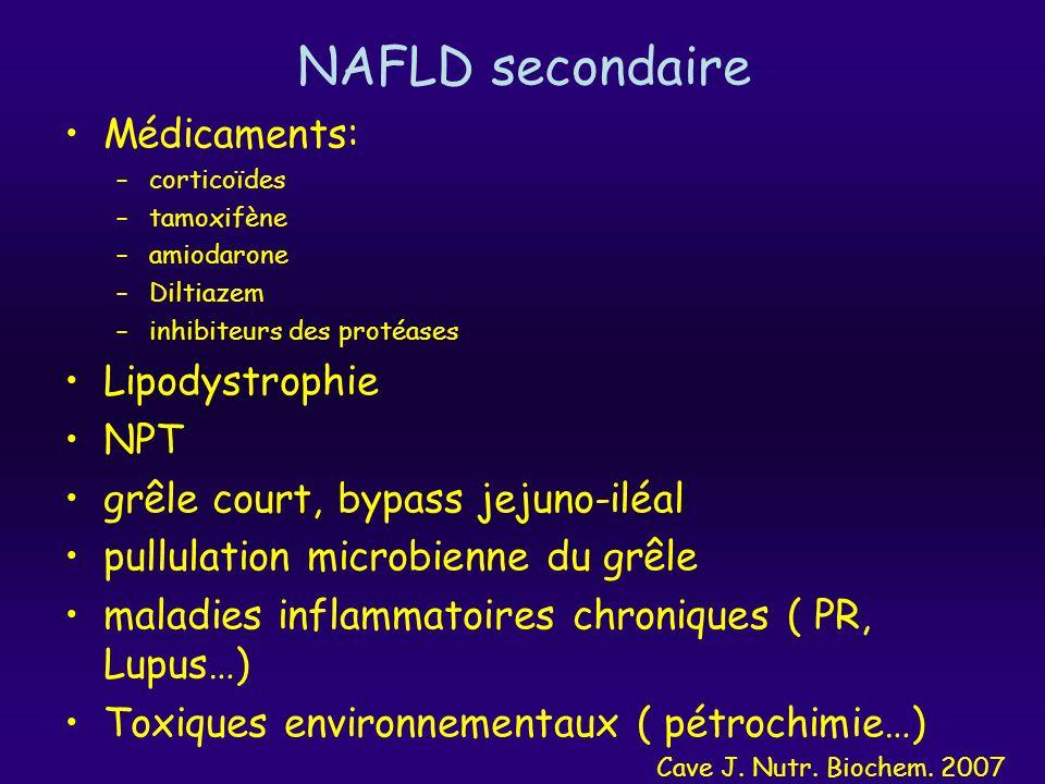 NAFLD secondaire Médicaments: Lipodystrophie NPT