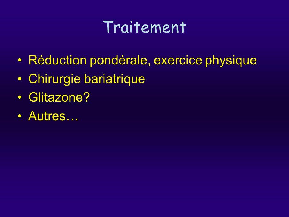 Traitement Réduction pondérale, exercice physique