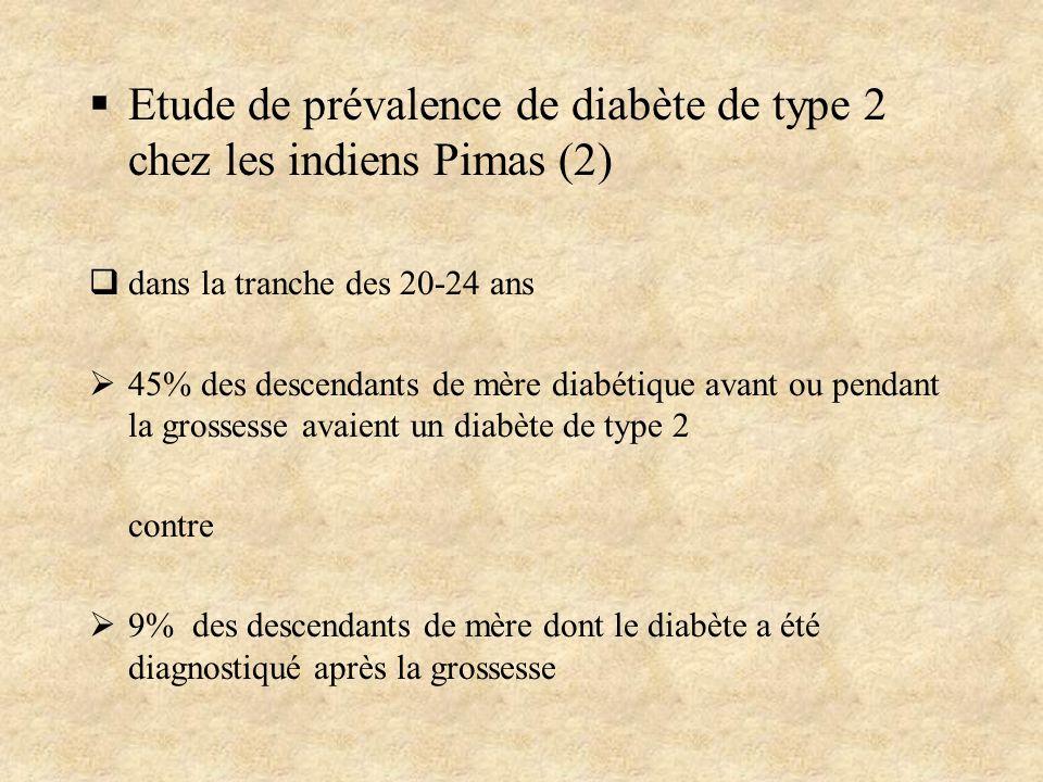 Etude de prévalence de diabète de type 2 chez les indiens Pimas (2)