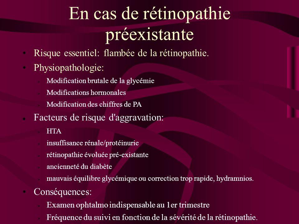 En cas de rétinopathie préexistante