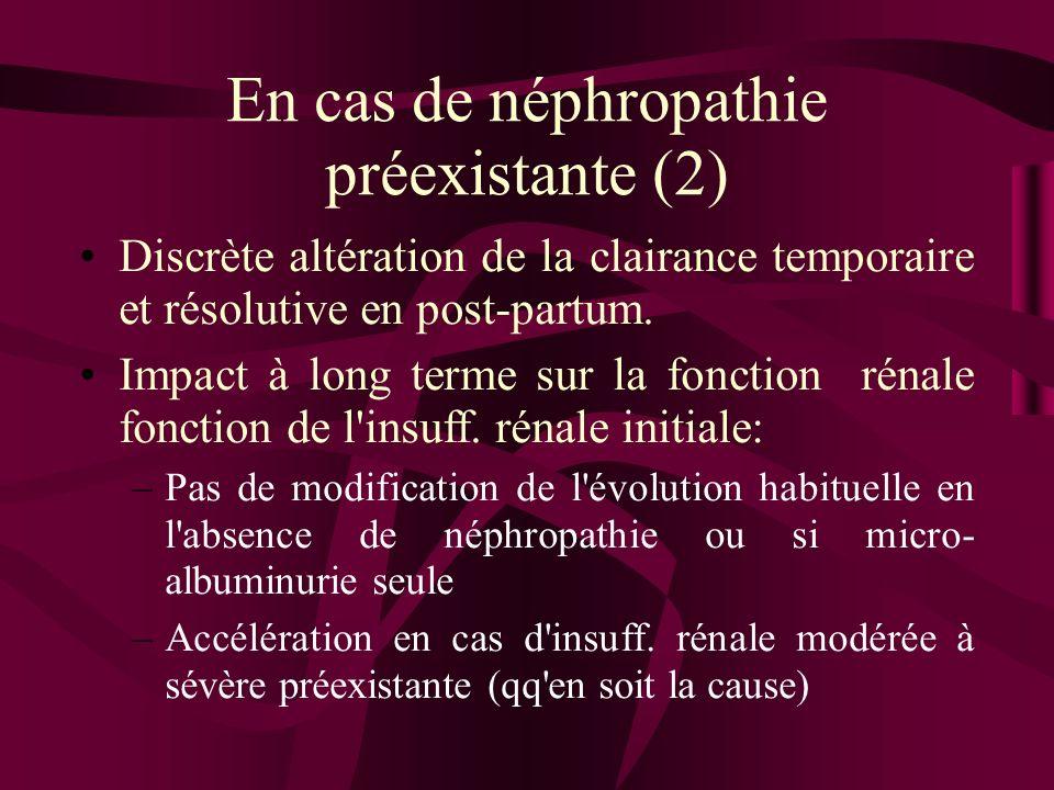 En cas de néphropathie préexistante (2)
