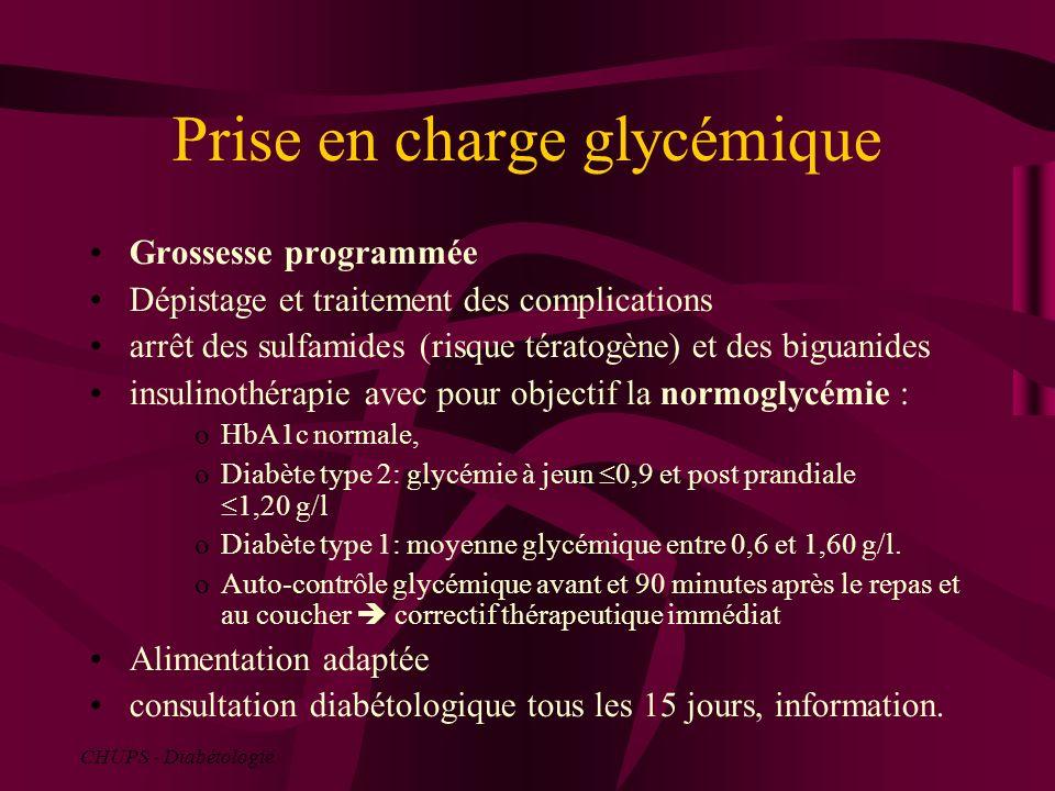 Prise en charge glycémique