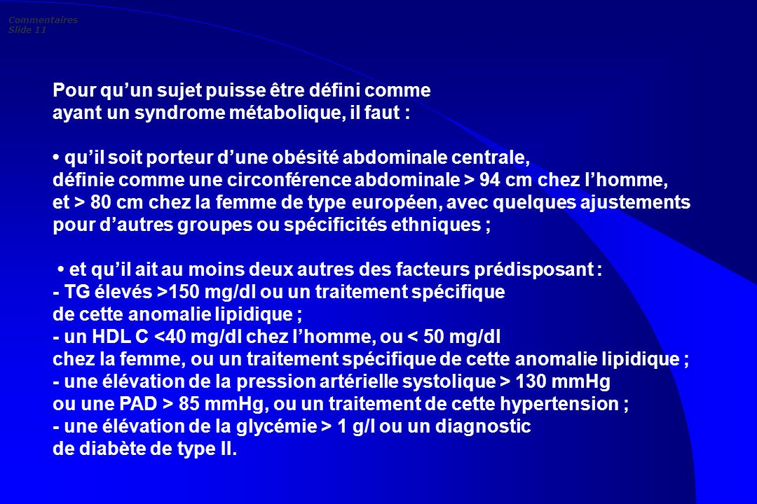 Commentaires Slide 11