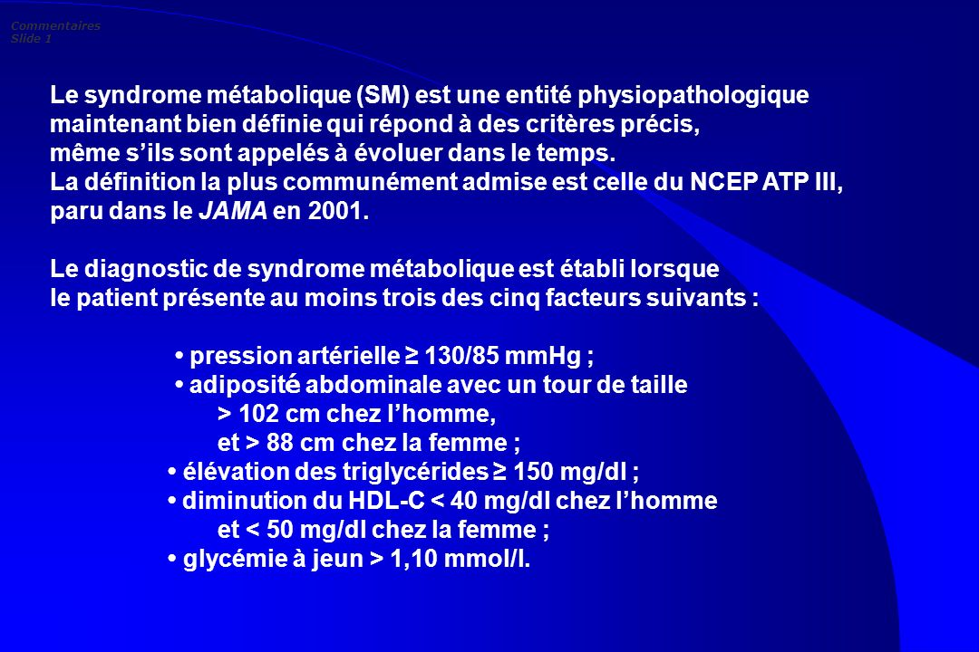 Commentaires Slide 1