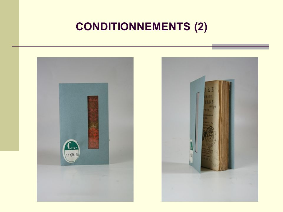 CONDITIONNEMENTS (2)