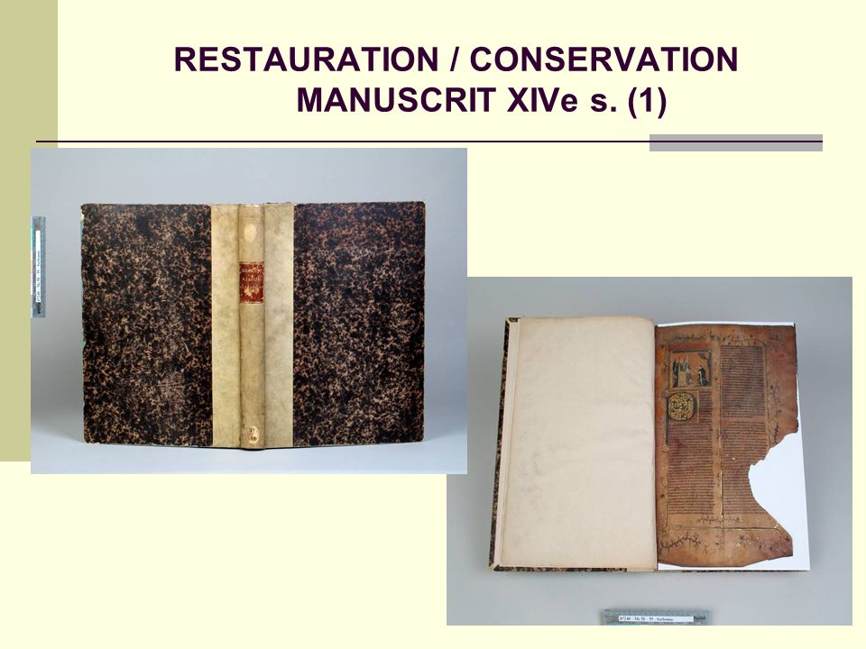 RESTAURATION / CONSERVATION MANUSCRIT XIVe s. (1)