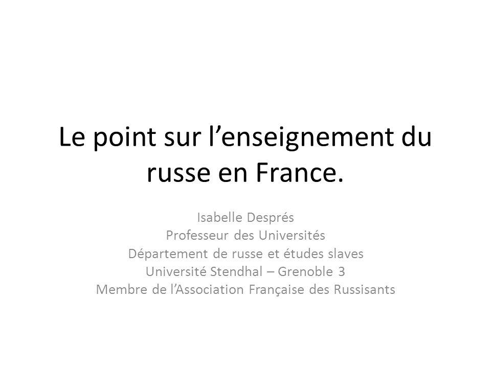 Le point sur l'enseignement du russe en France.
