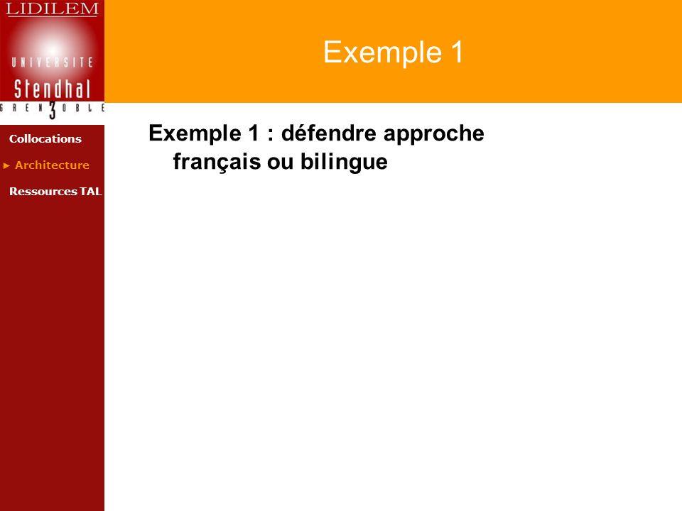 Exemple 1 Exemple 1 : défendre approche français ou bilingue