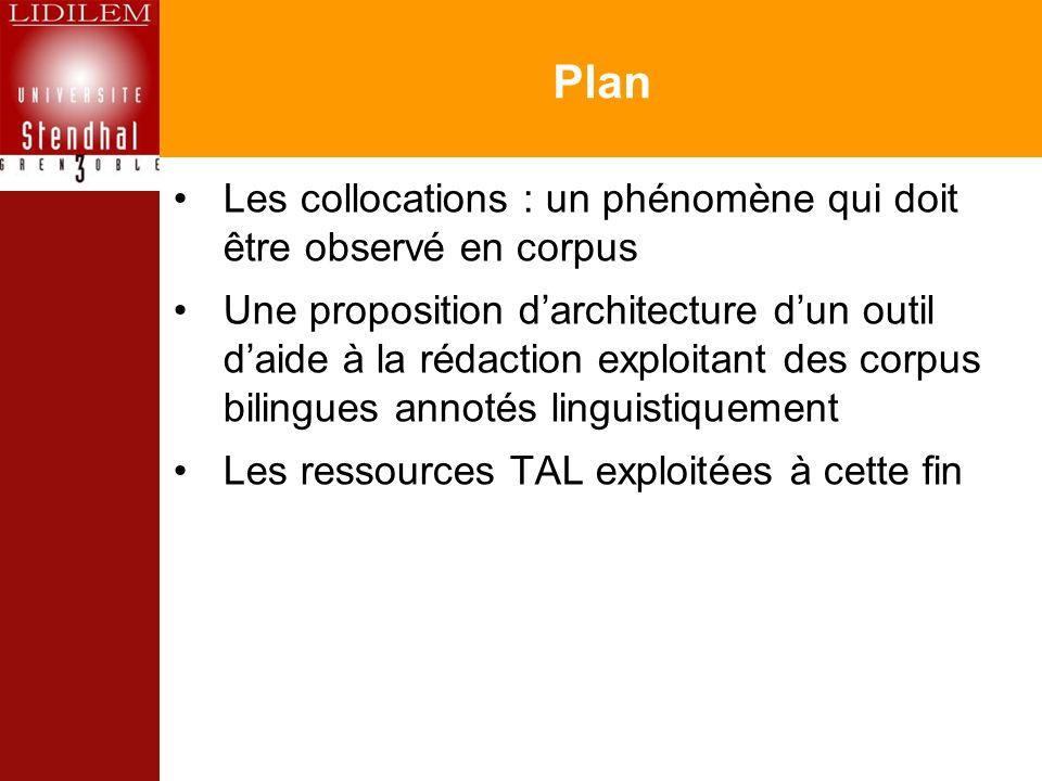 Plan Les collocations : un phénomène qui doit être observé en corpus