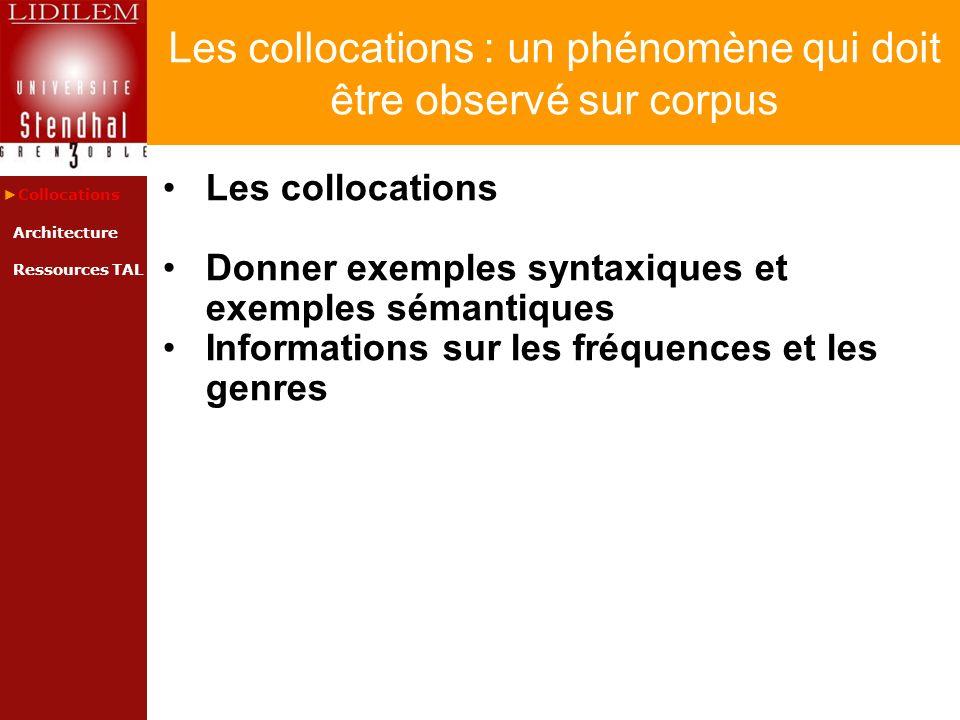 Les collocations : un phénomène qui doit être observé sur corpus