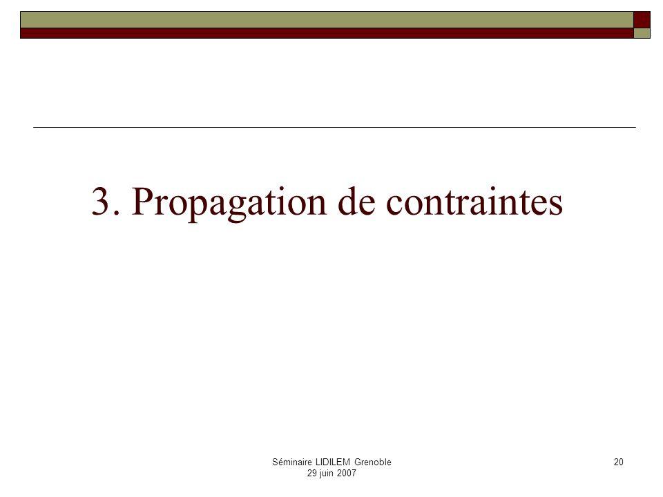 3. Propagation de contraintes