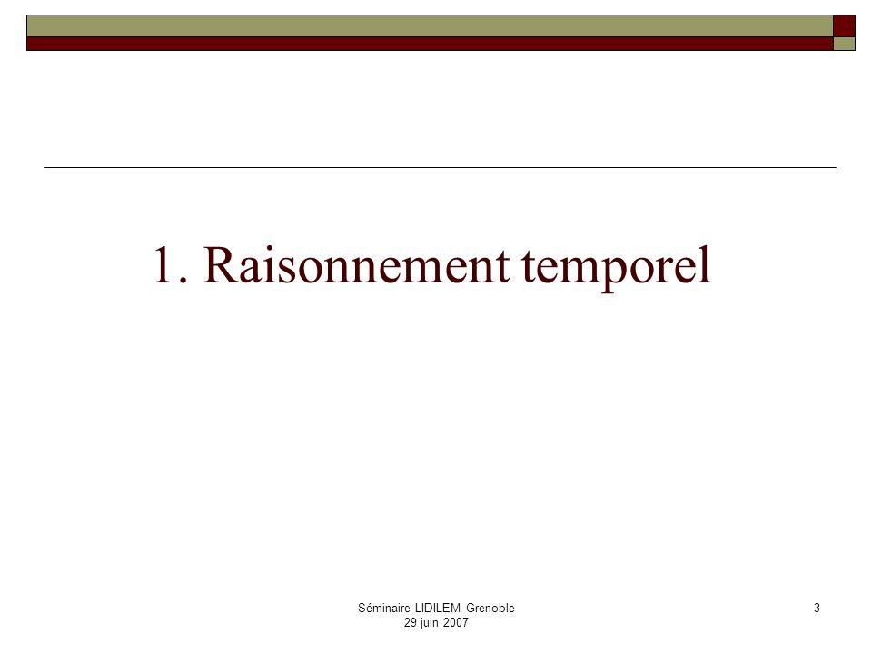 1. Raisonnement temporel