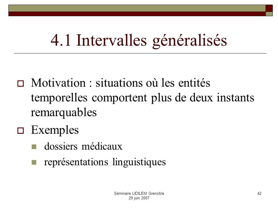 4.1 Intervalles généralisés
