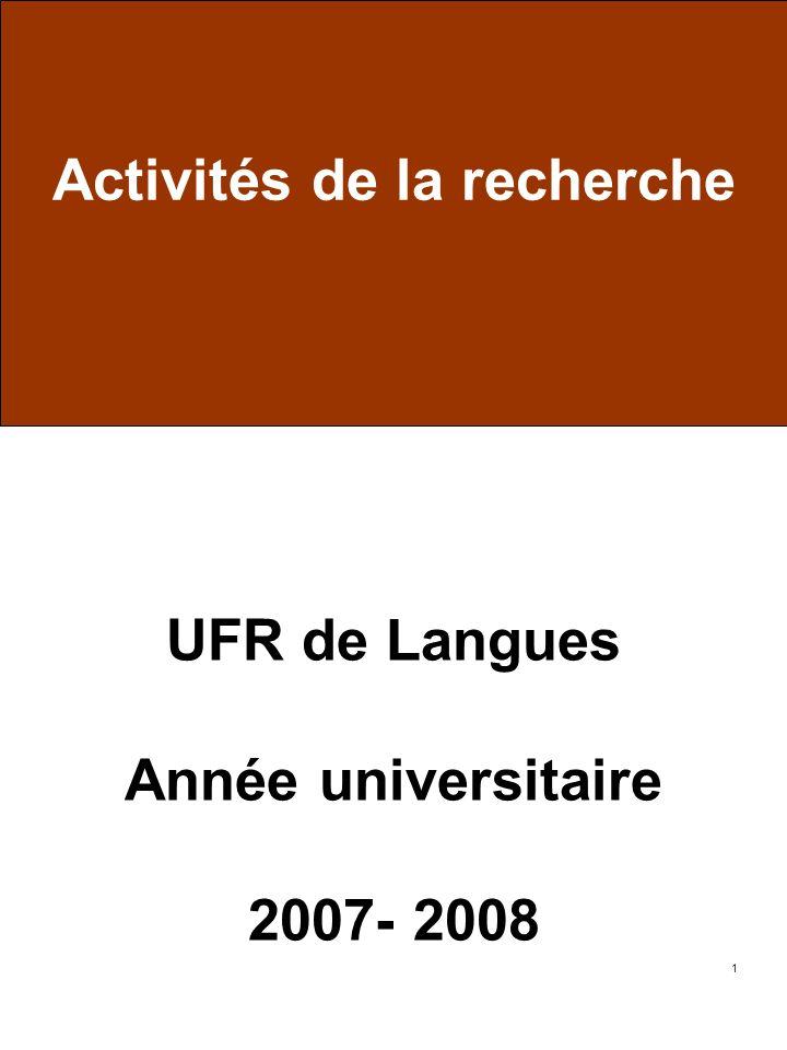 UFR de Langues Année universitaire 2007- 2008