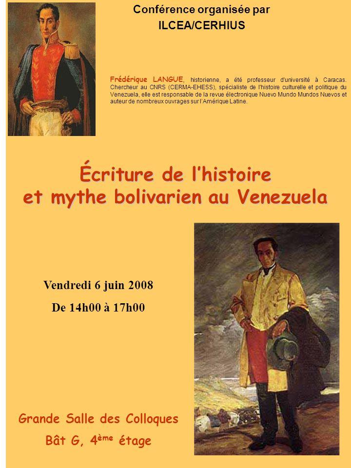 Écriture de l'histoire et mythe bolivarien au Venezuela