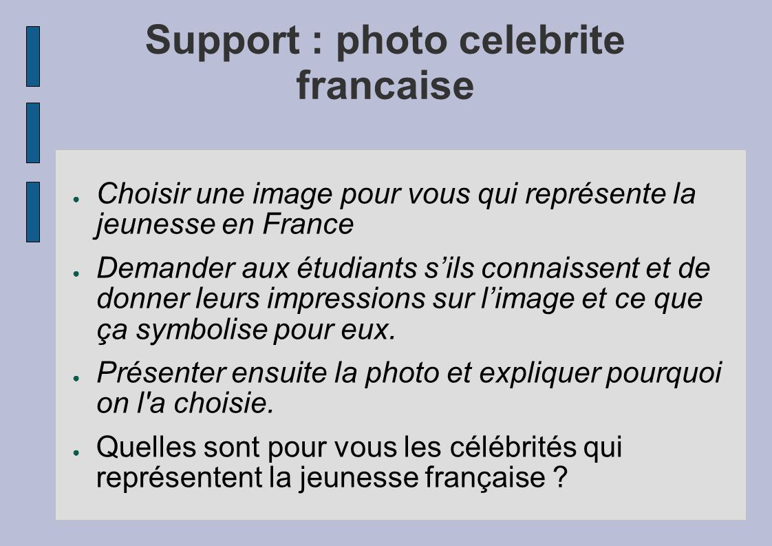 Support : photo celebrite francaise