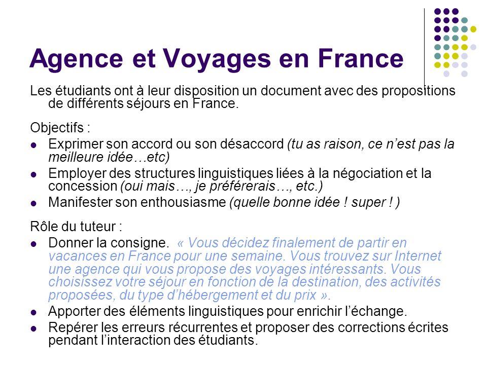 Agence et Voyages en France