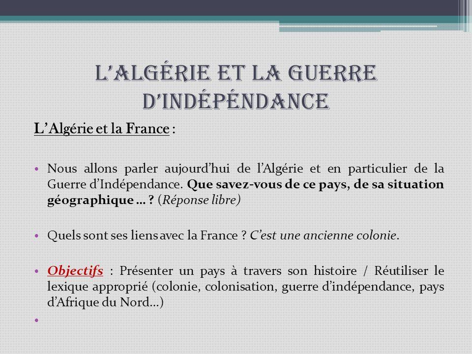 L'Algérie et la guerre d'indépéndance