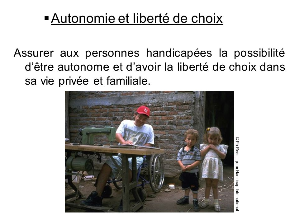 Autonomie et liberté de choix