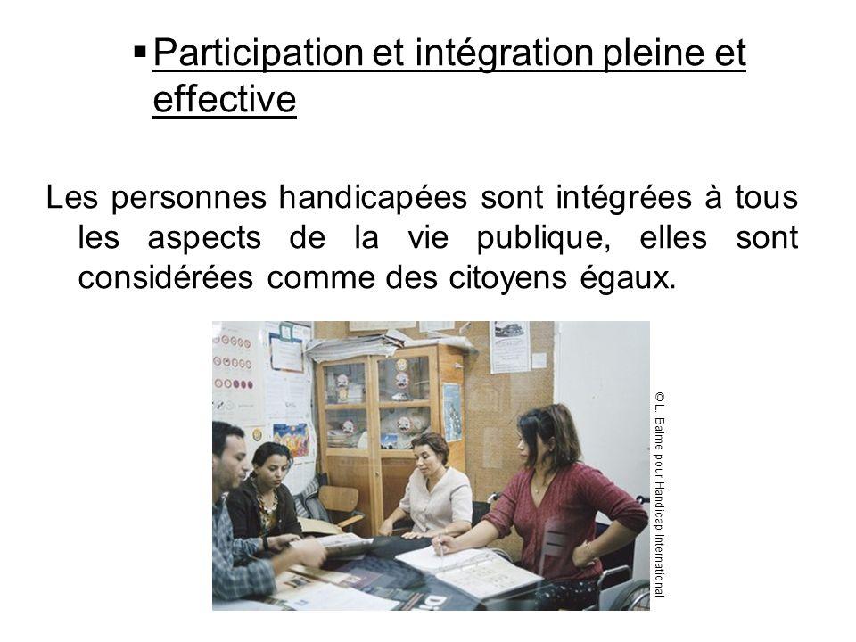 Participation et intégration pleine et effective