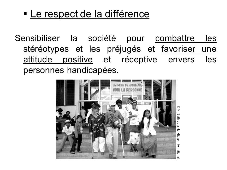 Le respect de la différence