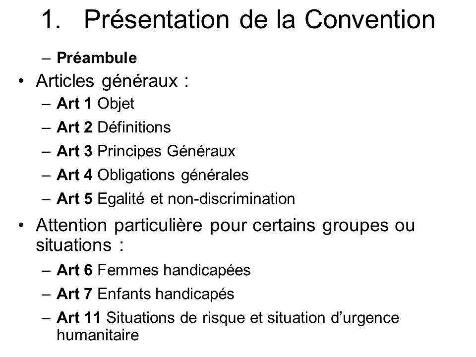 Présentation de la Convention