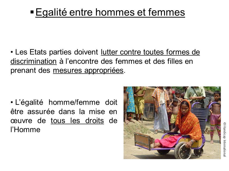 Egalité entre hommes et femmes