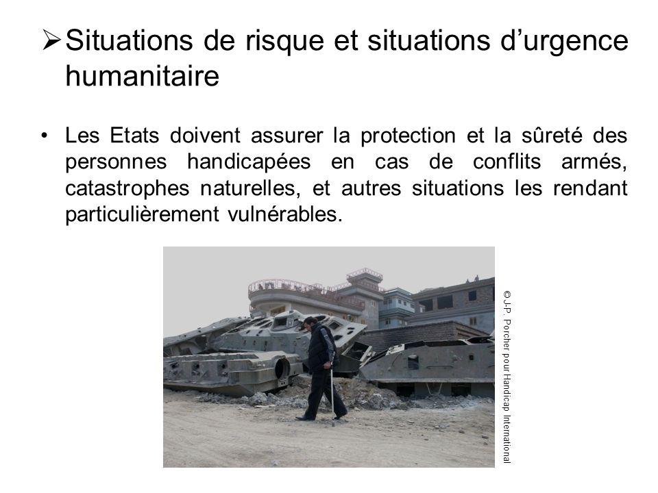 Situations de risque et situations d'urgence humanitaire