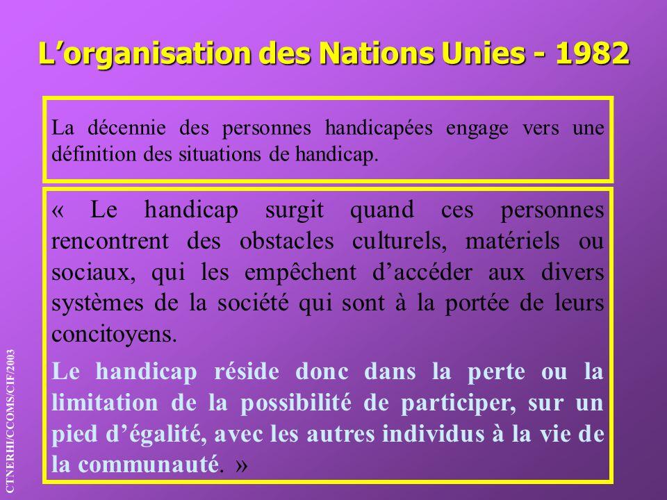 L'organisation des Nations Unies - 1982