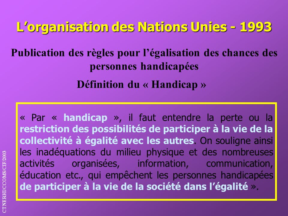 L'organisation des Nations Unies - 1993