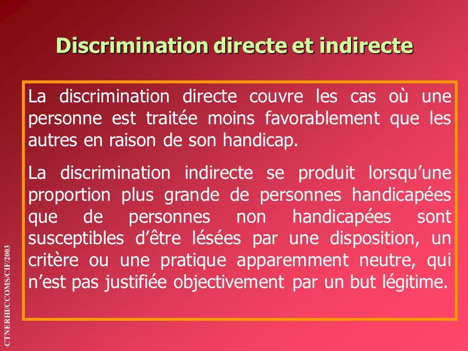 Discrimination directe et indirecte