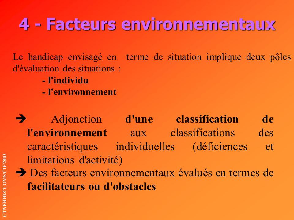 4 - Facteurs environnementaux