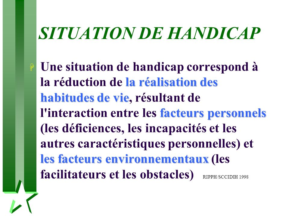SITUATION DE HANDICAP