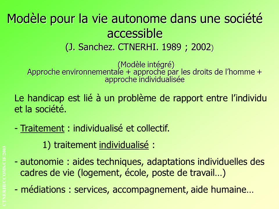 Modèle pour la vie autonome dans une société accessible