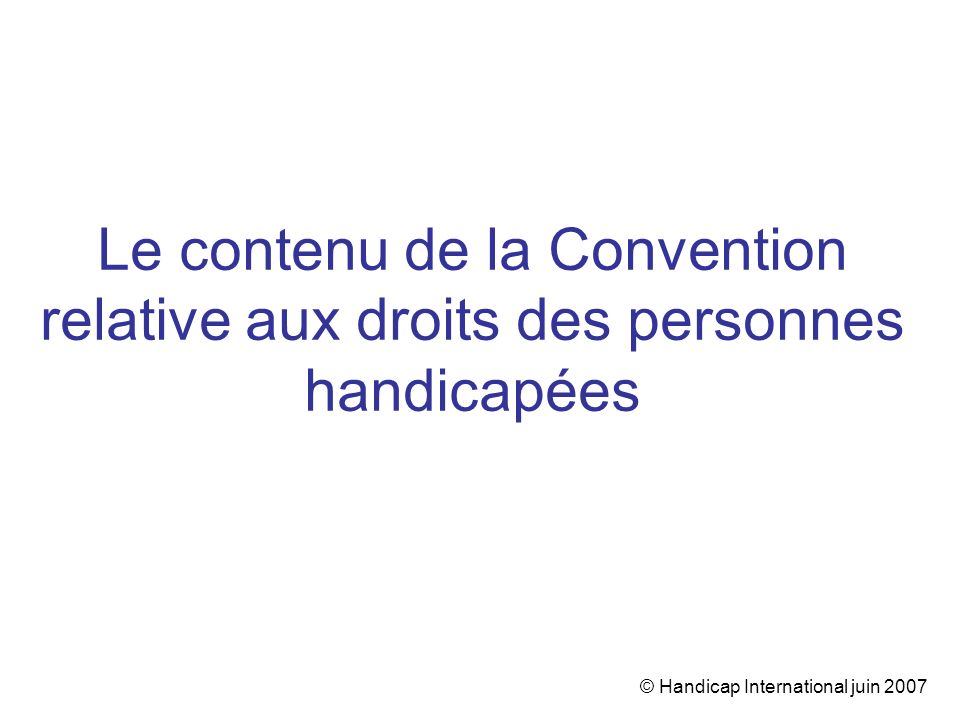 © Handicap International juin 2007
