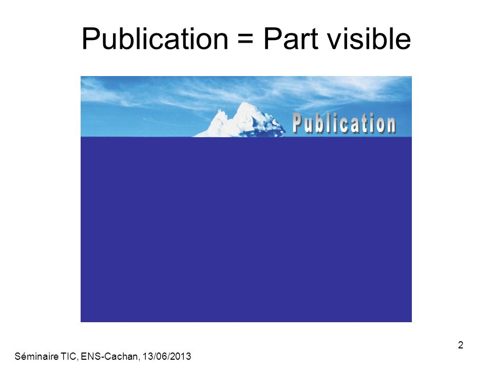 Publication = Part visible