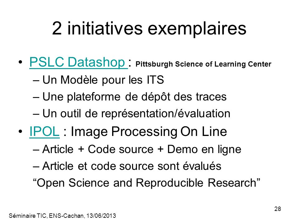 2 initiatives exemplaires