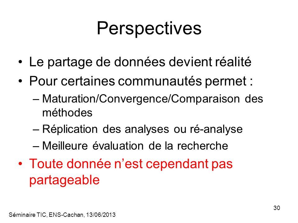 Perspectives Le partage de données devient réalité