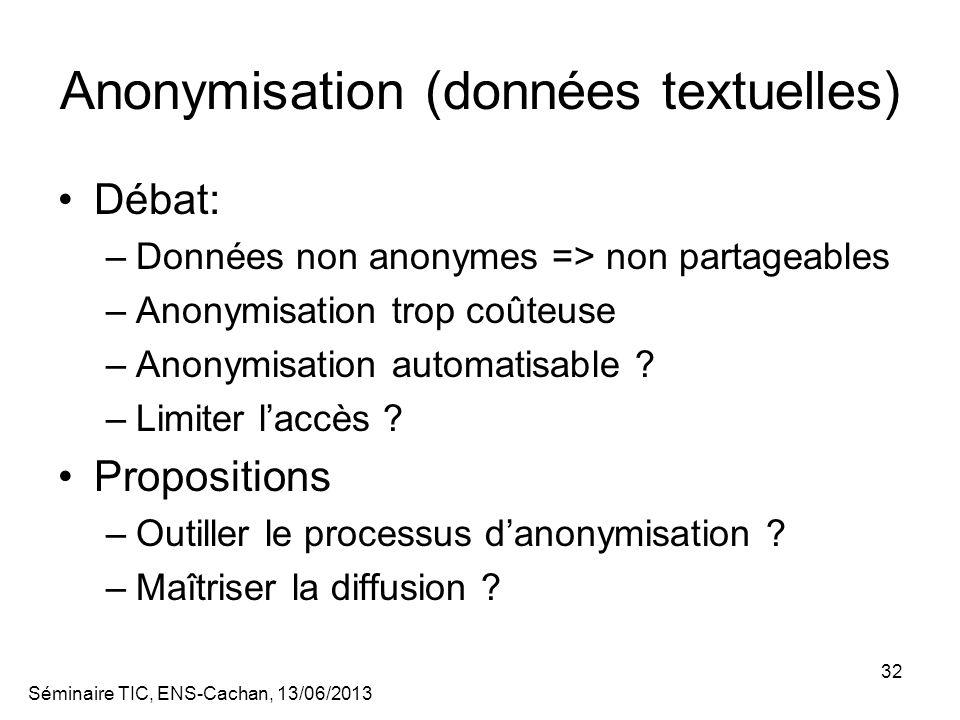 Anonymisation (données textuelles)