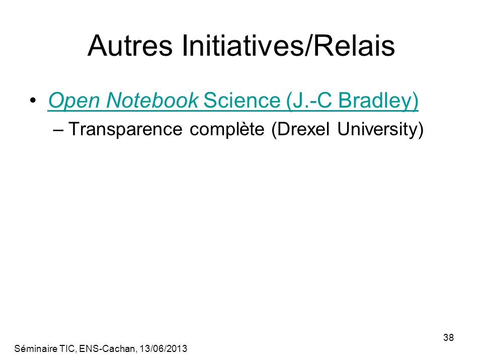 Autres Initiatives/Relais