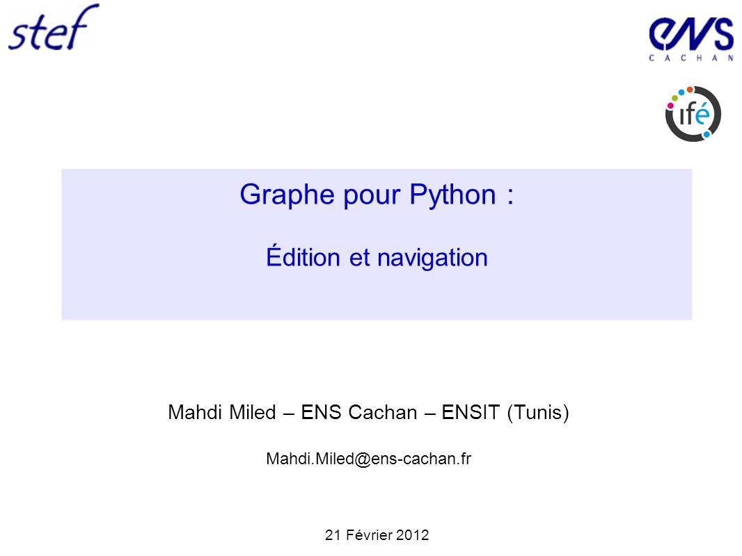 Graphe pour Python : Édition et navigation