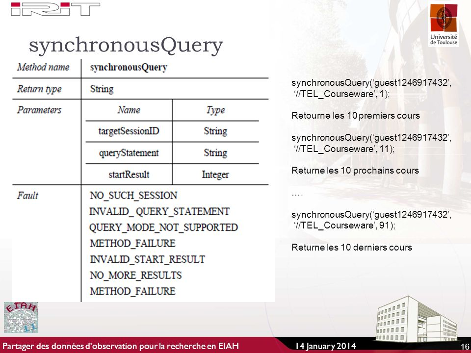 synchronousQuery synchronousQuery('guest ',